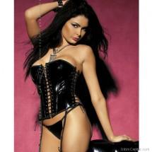 Luxusfűzű, Obsessive Caroline vadítóan fekete vinil