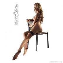 Combfix, testszínű Cotelli széles erotikus fekete csipkével